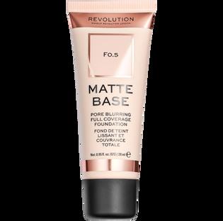 Revolution Makeup_Matte Base Foundation_podkład do twarzy F0.5, 28 ml