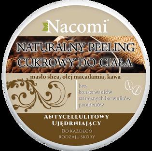 Nacomi_peeling cukrowy do ciała o działaniu wyszczuplającym o zapachu kawy, 200 ml