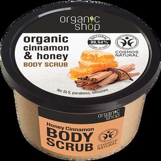 Organic Shop_Miód-cytryna_naturalny kojący cukrowy peeling do ciała, 250 ml