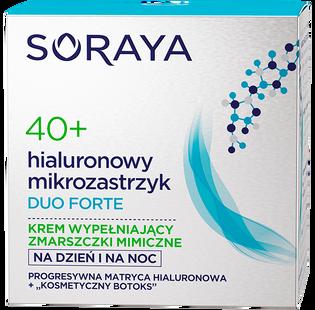 Soraya_Duo Forte_krem wypełniający zmarszczki mimiczne na dzień i na noc 40+, 50 ml