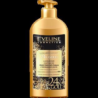 Eveline_Luxury Expert_mleczko do ciała z drobinkami złota, 350 ml