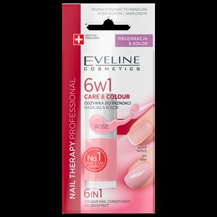 Eveline_6w1 Care&Colour_odżywka do paznokci nadająca kolor rose 6w1, 5 ml_2