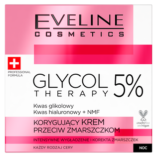 Eveline Cosmetics_Glycol Therapy_korygujący krem przeciw zmarszczkom do twarzy na noc, 50 ml