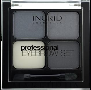 Ingrid_Professional_zestaw do stylizacji brwi grafit, 7 ml