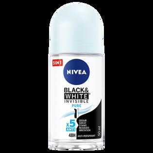 Nivea_Black & White Invisible Pure_antyperspirant damski w kulce, 50 ml