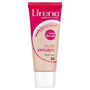 Lirene_Kryjący_podkład do twarzy ciepły beż, 30 ml