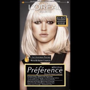 L'Oréal Paris_Récital Préférence_farba do włosów Z2 10.21 bardzo bardzo jasny blond opalizujący, 1 opak.