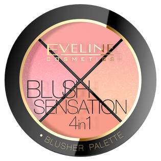 Eveline Cosmetics_Blush Sensation 4in1_paleta róży do twarzy 4w1, 13,5 g