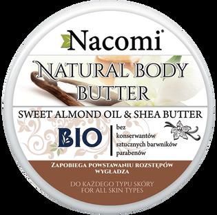 Nacomi_masło do ciała nawilżające i natłuszczające o zapachu migdałowym, 200 ml