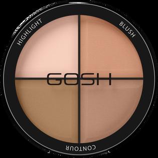 Gosh_Contour'n Strobe Kit_paleta do modelowania twarzy light 001, 15 g_1
