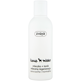 Ziaja_Kozie Mleko_mleczko + tonik do twarzy mleczna re generacja dla cery suchej i normalnej, 200 ml