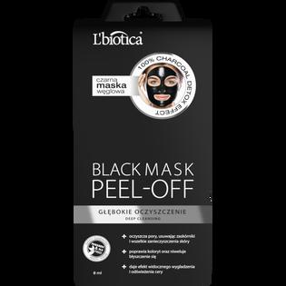 L'Biotica_czarna maska peel-off, 8 ml