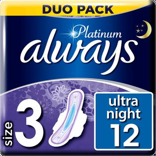 Always_Platinum Ultra Night_podpaski higieniczne ze skrzydełkami, 12 szt./1 opak._1