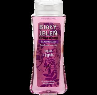 Biały Jeleń_Hipoalergiczny_żel pod prysznic z łopianem i jagodą, 250 ml