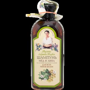 Babuszka Agafia_ziołowy szampon do włosów z miodem i lipą, 350 ml