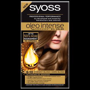 Syoss_Oleo Intense_farba do włosów 6-10 ciemny blond, 1 opak.