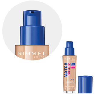Rimmel_Match Perfection_podkład do twarzy classic beige 201 SPF20, 30 ml_3