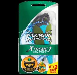 Wilkinson Sword_Xtreme 3 Sensitive_maszynka do golenia męska, 6+2 szt./1 opak.