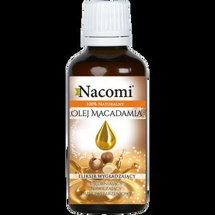 Nacomi_olej makadamia do twarzy, ciała i włosów dla skóry suchej, 50 ml