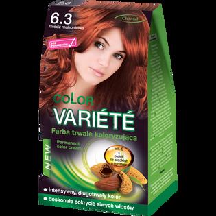 Color Variete_Miedź mahoniowa_farba do włosów 6.3 miedź mahoniowa, 1 opak.