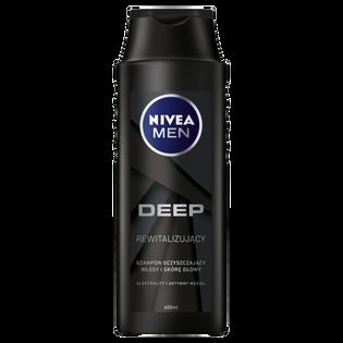 Nivea Men_Deep_oczyszczający szampon do włosów, 400 ml