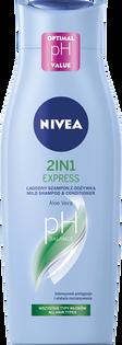 Nivea_2in1 Care Express_łagodny szampon z odżywką do włosów z ekstraktem z akacji, 400 ml