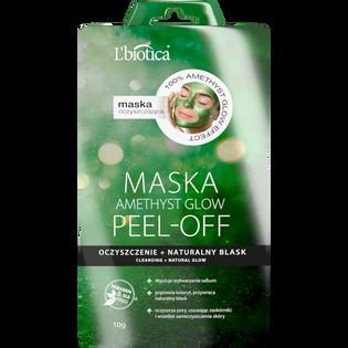 L'Biotica_Peel Off Amethyst Glow_maseczka peel-off do twarzy oczyszczenie i naturalny blask, 10 g