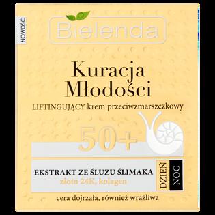 Bielenda_Kuracja Młodości_liftingujący krem przeciwzmarszczkowy na dzień noc 50+, 50 ml