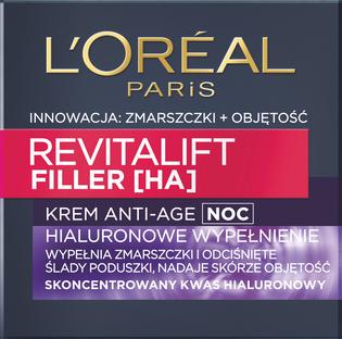 L'Oréal Paris_Revitalift Filler HA_krem przeciwzmarszczkowy na noc, 50 ml