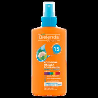 Bielenda_Bikini_kokosowa mgiełka do opalania twarz/włosy SPF 15, 150 ml