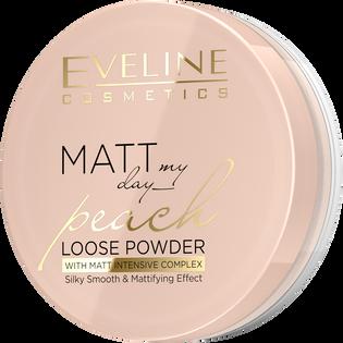 Eveline_Matt My Day_puder sypki z dodatkiem pudru ryżowego do twarzy, 6 g