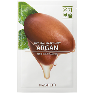 The Saem_Natural Argan Mask Sheet_maska do twarzy, 1 szt.