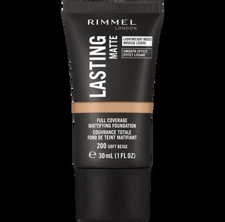 Rimmel_Lasting Matte_podkład do twarzy soft beige 200, 30 ml_1