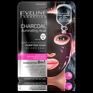 Eveline_Charcoal_oczyszczająca maska z węglem do twarzy na tkaninie, 20 ml