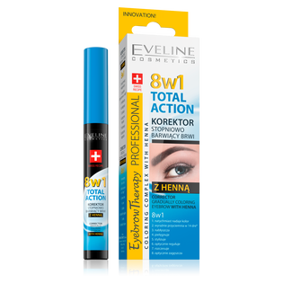 Eveline_Eyebrow Therapy Professional 8w1 Total Action_korektor do brwi z henną 8w1, 9 ml
