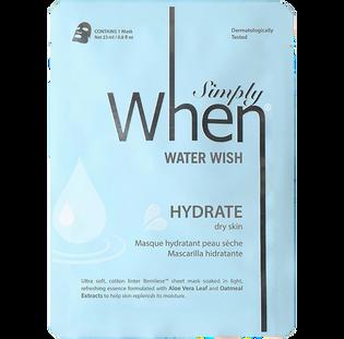 Simply When_Water Wish_nawadniająca maska do twarzy, 23 ml