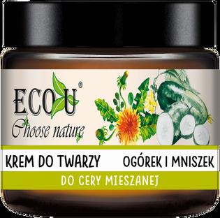 Ecou_Ogórek i mniszek_krem do twarzy, 30 ml