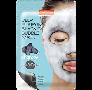 Purederm_głęboko oczyszczająca maseczka bąbelkująca z aktywnym węglem do twarzy, 1 szt.