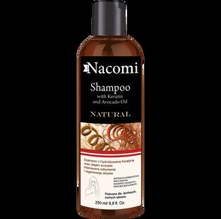 Nacomi_szampon do włosów z keratyną i olejem awokado do włosów łamliwych i suchych, 250 ml