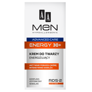 AA_Men Advanced Care_energizujący krem do twarzy 30+ męski, 50 ml