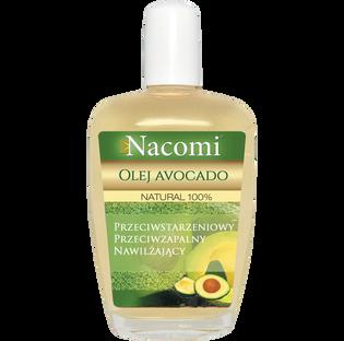 Nacomi_Natural 100%_olej z awokado do twarzy, ciała i włosów dla skóry atopowej, suchej, 50 ML