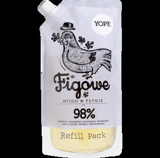 Yope_Figowe_zapas naturalnego mydła w płynie, 500 ml