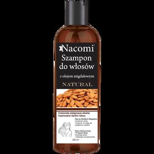 Nacomi_Słodkie Migdały_szampon do włosów o działaniu wygładzającym z olejem ze słodkich migdałów, 250 ml