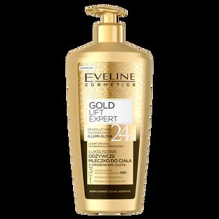 Eveline Cosmetics_Gold Lift Expert_odżywcze mleczko do ciała z drobinkami złota, 350 ml