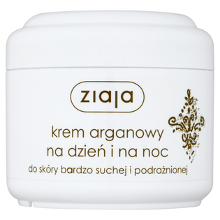 Ziaja_łagodząco-ochronny krem z olejem arganowym do twarzy na dzień i na noc do skóry bardzo suchej i podrażnionej, 75 ml