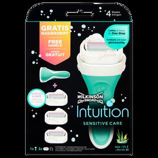 Wilkinson Sword_Intuition Sensitive_zestaw: maszynka do golenia damska, 1 szt., wkłady do maszynki do golenia, 3 szt.