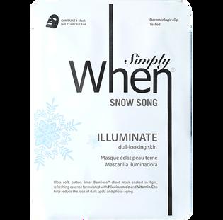 Simply When_Snow Song_koreańska maska rozjaśniająca do twarzy, 23 ml_1