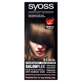 Syoss_Salon Plex_farba do włosów 5-1 jasny brąz, 1 opak.
