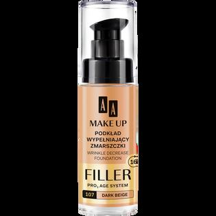 AA_Make up Filler_podkład wypełniający zmarszczki do twarzy dark beige 107, 30 ml