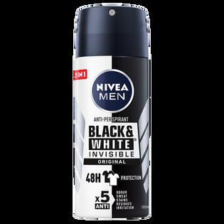Nivea Men_Black & White Invisible Original_antyperspirant męski w sprayu, 100 ml